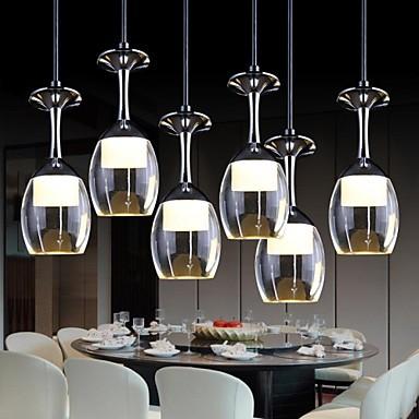 luces colgantes led copa vaso de vino de diseo moderno llev la lmpara colgante para el