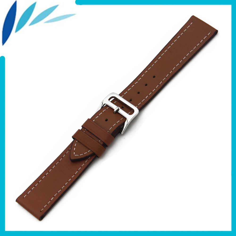 Genuine Leather Watch Band 22mm for IWC Watchband Men Women Strap Wrist Loop Belt Bracelet Brown + Tool + Spring Bar 18mm genuine leather watchband for withings activite steel pop smart watch band wrist strap plain grain belt bracelet tool