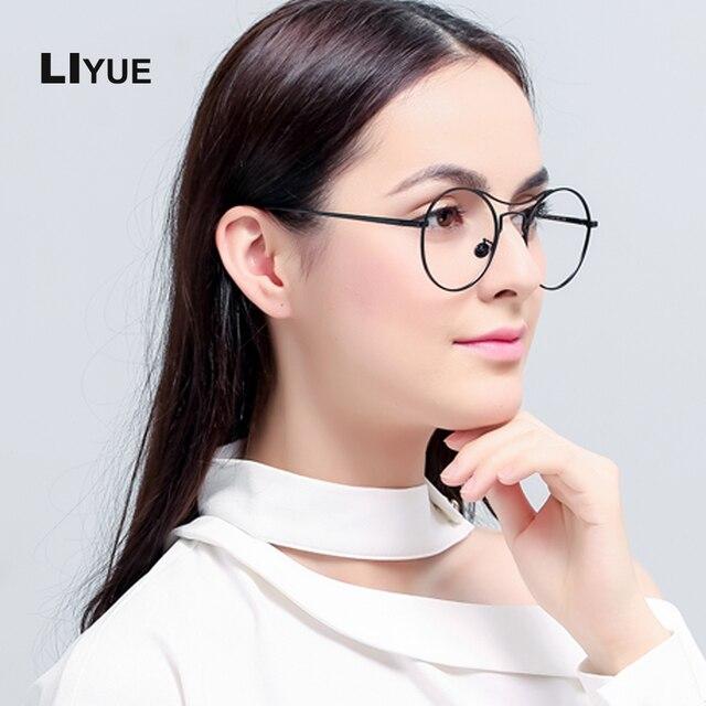 68eb2ea97b3 LIYUE 2017 Frog glasses Korea Design myopia eyeglasses men women Retro  Metal Glasses Frame Trendy spectacles