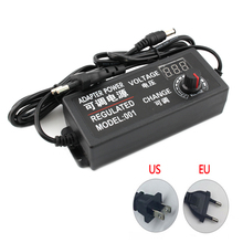Adjustable AC To DC 3V 9V 12V 24V Power Adapter Supply Display Screen Power Lighting Transformers 3 9 12 24 V Volt Led Driver цена и фото