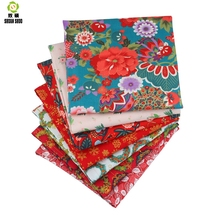 Shuanshuo high quality Floral Series Cotton Patchwork Fabric Fat Quarter Bundles For Sewing Doll Cloths 40*50cm 7pcs/lot