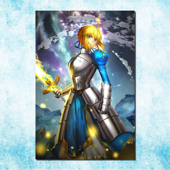 Wall Art Poster Painting Modular Pictures Living Room Decorative Canvas Printed 5 Panel Anime Girls Saber Zero Fate Series Wlop Buy At The Price Of 6 12 In Aliexpress Com Imall Com