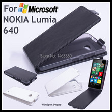 100% High Quality Leather Case For NOKIA Microsoft Lumia 640 Flip Cover Case For Lumia640 Leather Cover Case Phone Covers Cases