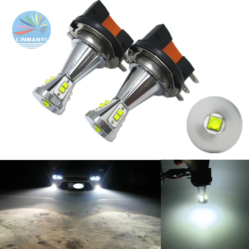 2pcs <font><b>H15</b></font> Fog Lights CANBUS <font><b>No</b></font> <font><b>error</b></font> free <font><b>H15</b></font> 50W 9LED Fog Lamps Driving lights 6000K White DC 12V CAR <font><b>LED</b></font> Daytime running lights image
