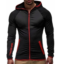 Men Fashion Hoodies Trench Long Sleeve Hooded Italian Style Streetwear Casual Slim Solid Color Coat Mens