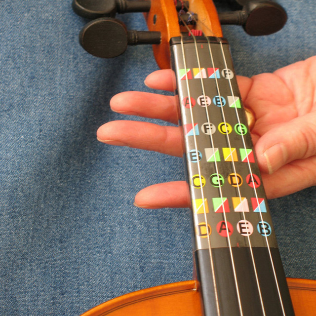4/4 Violin Finger Guide / Fingerboard Sticker Fret Guide Label