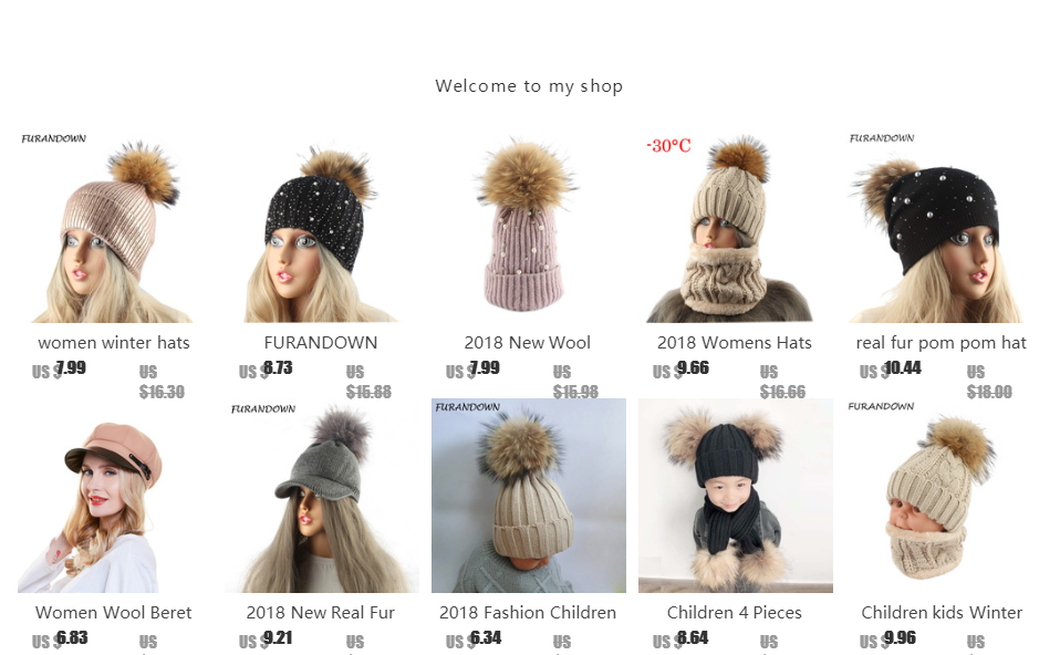 933601281a485 FURANDOWN 2019 New Women Winter Hats Real Big 18cm Fur Pom poms Beanies  Women s Cap Wholesale