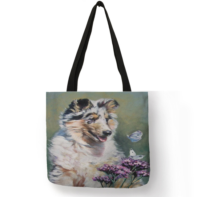 Cute Dog Printed Tote Bag