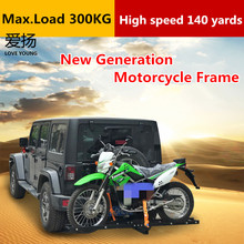 ФОТО high performance suv 4x4 universal safety tow type rear motorcycle rack/ hitch mount motorcycle carrier frame/car accessories