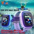Df25 vwar impermeable gps de los niños nadar teléfono táctil smart watch dispositivo de localización de llamadas sos tracker niños seguro anti-perdido monitor