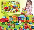 50 pcs BabyCity partículas Grandes Números Trem Blocos de Construção Tijolos Educacionais Brinquedos Compatíveis Com LegoINGly Duplo DIY