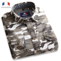 Langmeng 100% cotton Mens Long Sleeve Camouflage Shirt Men Army Combat Casual Shirt Military Slim Fit Camo Male Shirts 2016