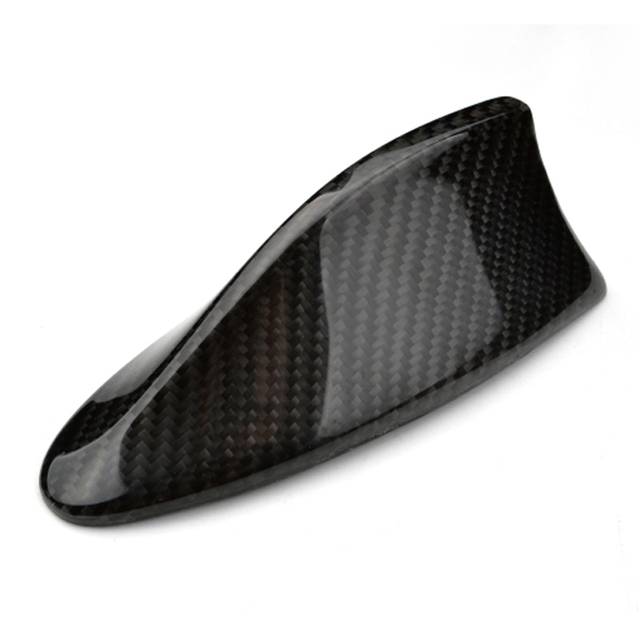 $ 55.24 High Quality Real Carbon Fiber Top Mounted Roof Shark Fin Decorative Antenna Cover Aerial  B