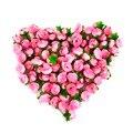 100 pcs/um conjunto Subiu Flor Artificial Silk Heads Casamento decoração Artesanato cor opcional