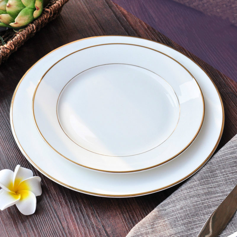 White Dinner Plate Porcelain Dinnerware Dishes For