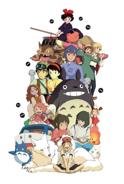 D321 New Japan Anime Comic Series Studio Ghibli Custom Silk Poster Art  Print Canvas Painting Wall Posters 348ca5d271