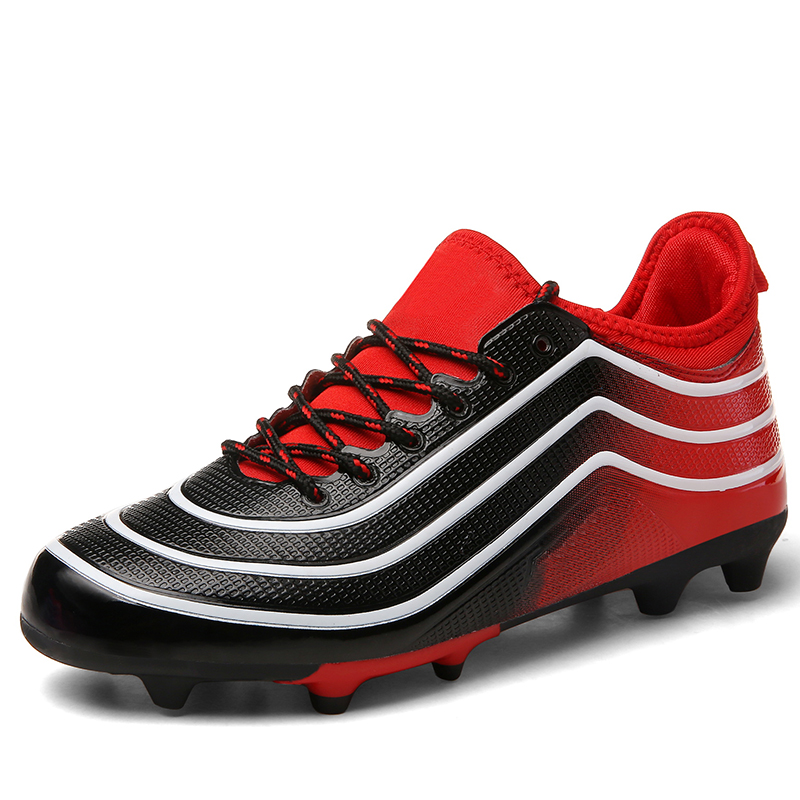 Bottes de football originales longues pointes hommes chaussures de football cr7 crampons de football sport Futsal zapatos de futbol chaussure de terrain professionnelle 44