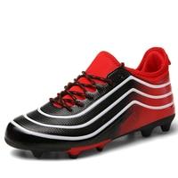 Original Soccer Boots Long Spikes Men Footbal Shoes cr7 Soccer Cleats Sports Futsal zapatos de futbol professional field Shoe 44