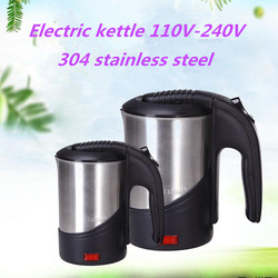 110V-240V Electric Water Kettle Travel Kettle Mini Heating Cup Portable Electric kettle