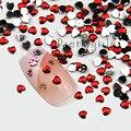10000 Unidades/pacote Nail Art Strass Vermelho Coração 1.3-1.5 MM Pregos Decoração Flatback Pedras de Cristal Frete Grátis