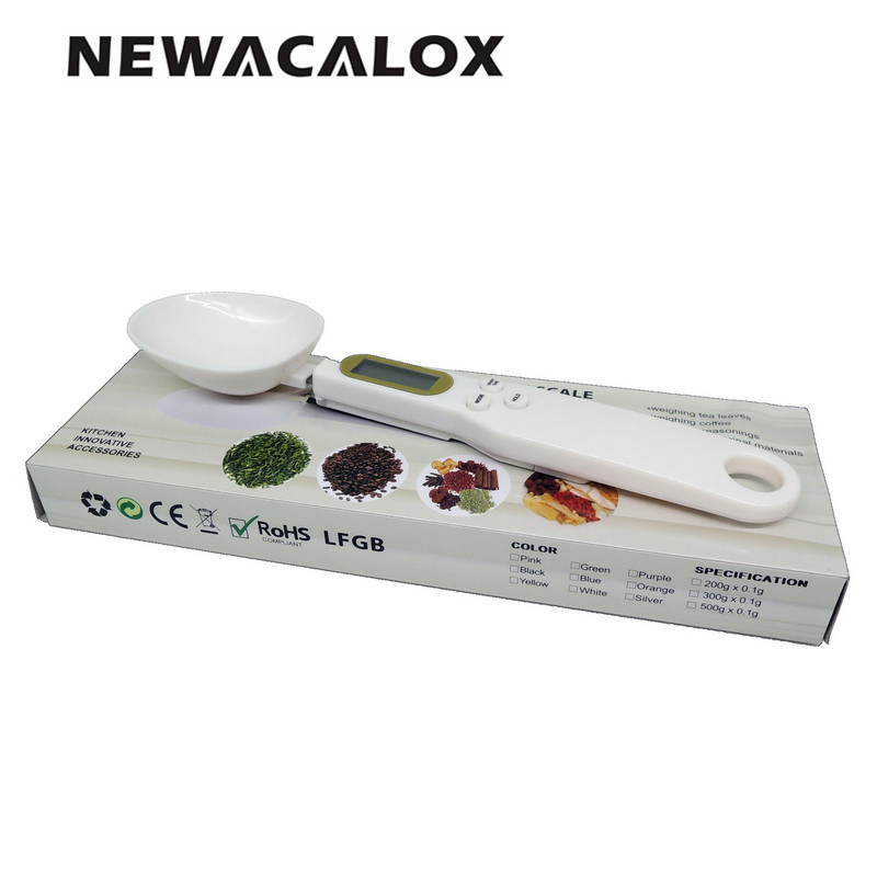 buy newacalox cooking baking measuring tool digital spoons scale kitchen weight. Black Bedroom Furniture Sets. Home Design Ideas