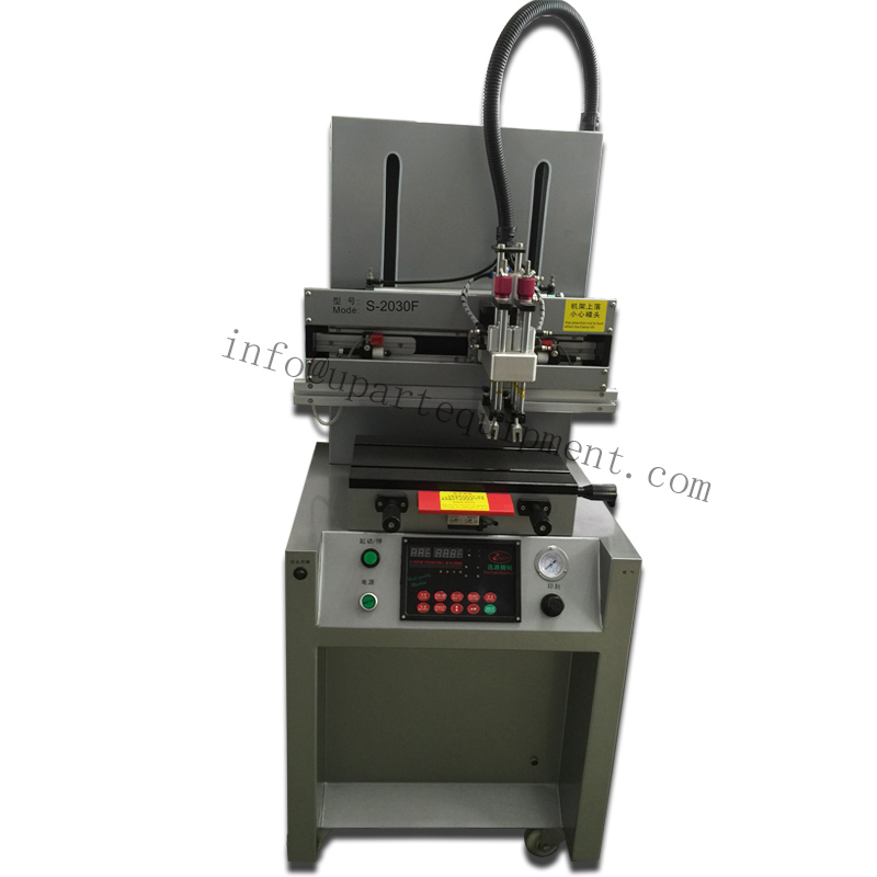 pneumatic T shape screen printing machine for sale for metal plates pvc plastic conver worktable size