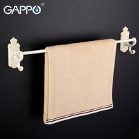 GAPPO 1Set High Quality Wall Mounted 60cm Single Towel Bars Bathroom Accessories Towel Holder Hooks Restroom