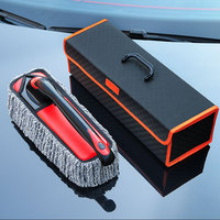 1Pcs Collapsible Window Brush Quality Snow Velvet Wiper Cleaner Cleaning Brush with Cloth Pad Car Auto Cleaner Cleaning Brush