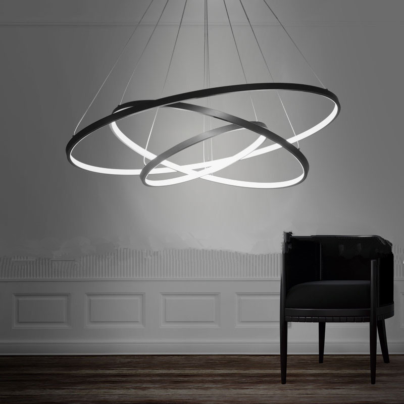 JCZ LED 90W Pendant Light Modern Design/ LED Three Rings/ 220V~240/100~120V/Special for office,Showroom,Living Room