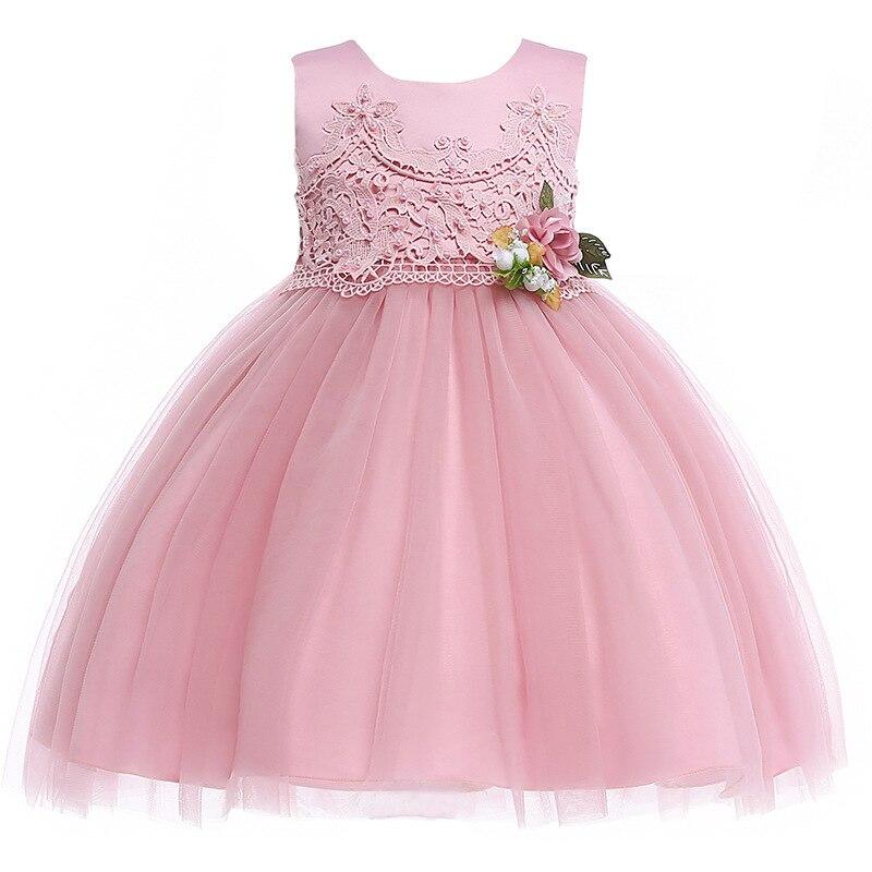 L5005 nouvelle mode européenne et américaine fille robe dentelle princesse robes fleur robe de mariée fille vêtements d'été