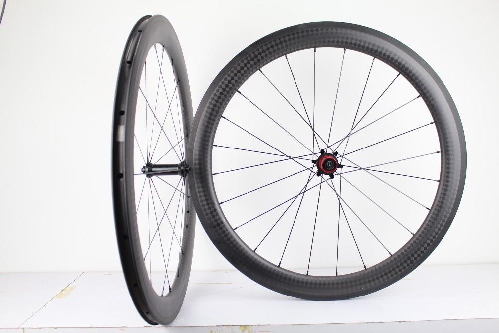 56mm Rim Carbon 20h Clincher Road Bike 700C UD Matt wheel 27 wide BASALT BRAKE