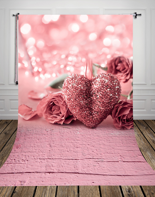 Huayi Pink Photography Backdrops Valentine S Day Photo Fabric For Studio Wedding Ceremony Backdrop D