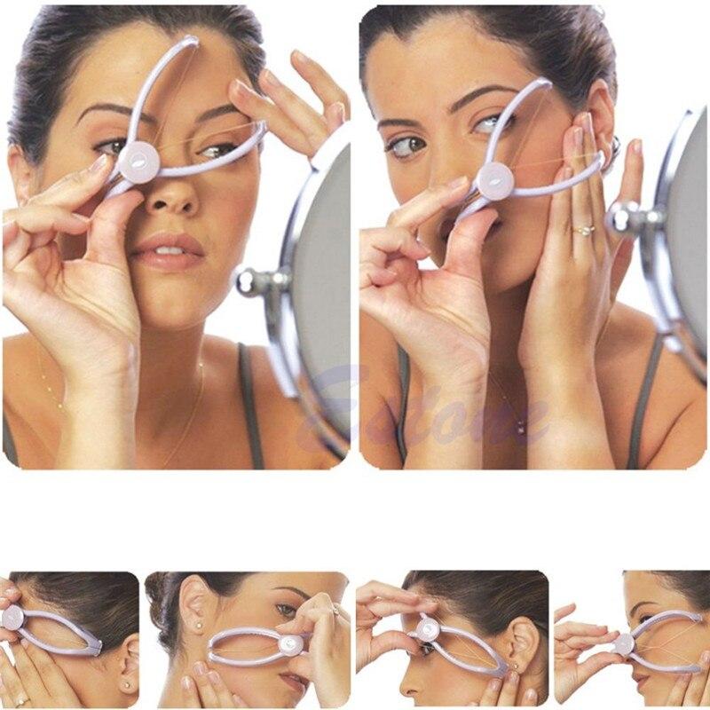 Женский Пластиковый хлопковый эпилятор для удаления волос на лице, весенний эпилятор для удаления резьбы, сделай сам, косметический инструмент, без боли, модная новинка