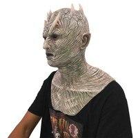 Чудесный персонаж для взрослых Игра престолов костюм аксессуар знаменитостей силиконовый ночной король маска для Hallween Вечерние
