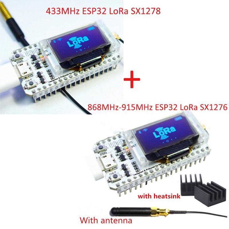 2pcs/lot SX1276+SX1278 ESP32 LoRa Blue OLED Display Bluetooth WIFI Lora Kit 32 Module IOT Development Board for Arduino