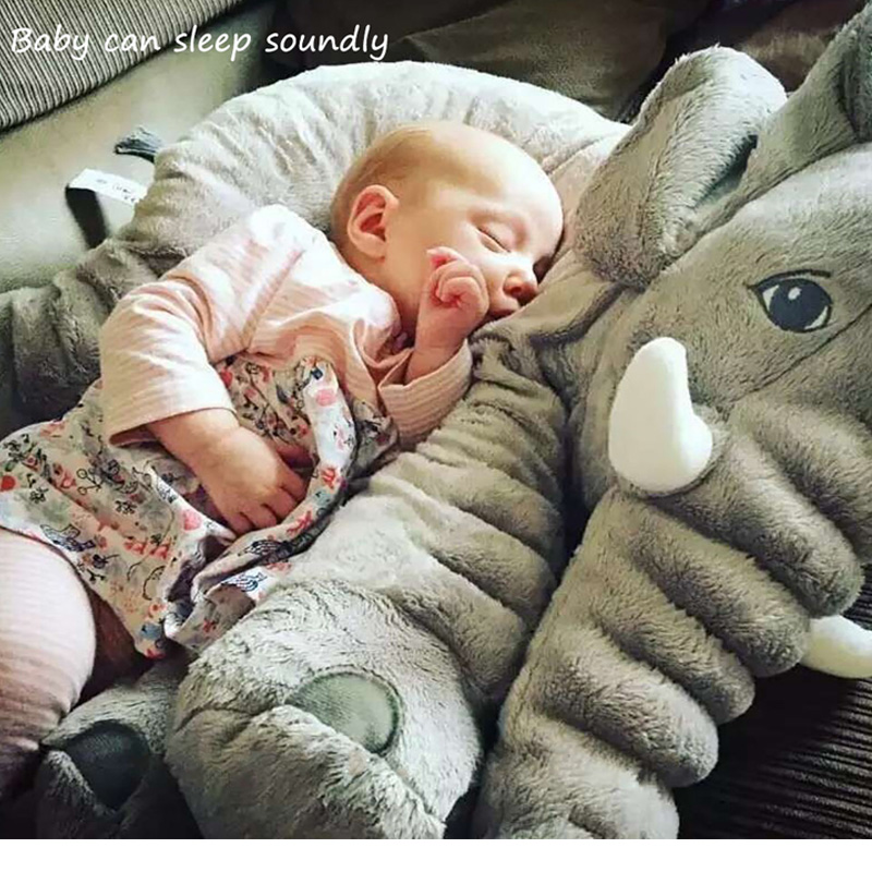 Baby Elephant Plush Toy Pillow for Baby Children Crib Foldable Kids Dolls Seat Cushion Babies Newborn Photography Props Toys kawaii children s bedroom elephant pillow baby bed cushion gray elephant plush toys children s day birthday gift 53 45 23cm
