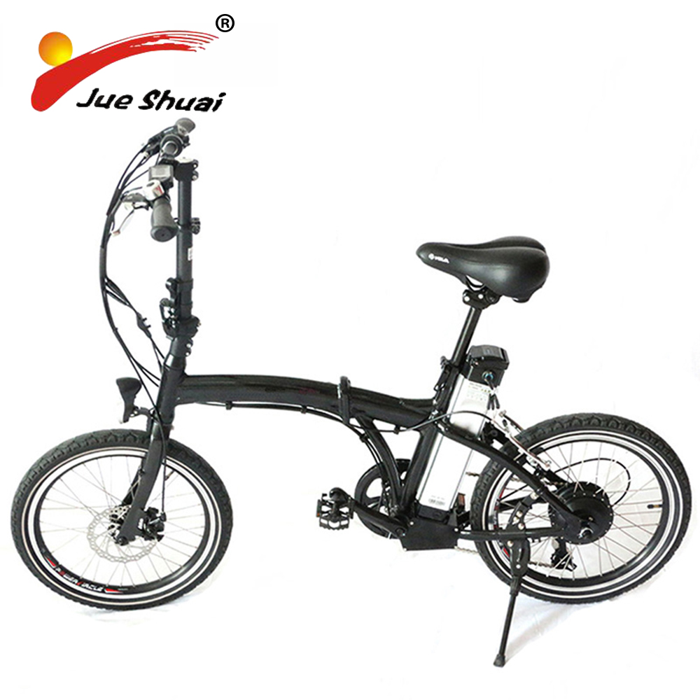 "New arrival 20"" MINI portable folding electric bicycle 36V lithium battery 250w LED bike computer for powerful electric bike"