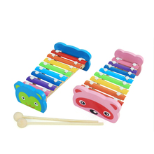 8 Notes Wooden Xylophone Toy Elephant Baby Xylophone Toys Glockenspiel Musical Instrument Music Children Kids Toys #LD789