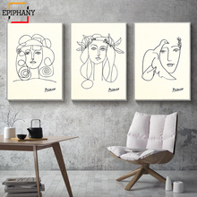 Abstract Face Art Print Woman Line Drawing Sketch Canvas Painting Minimalist Modern Home Decor Wall Pictures for Living Room майка print bar drawing a line