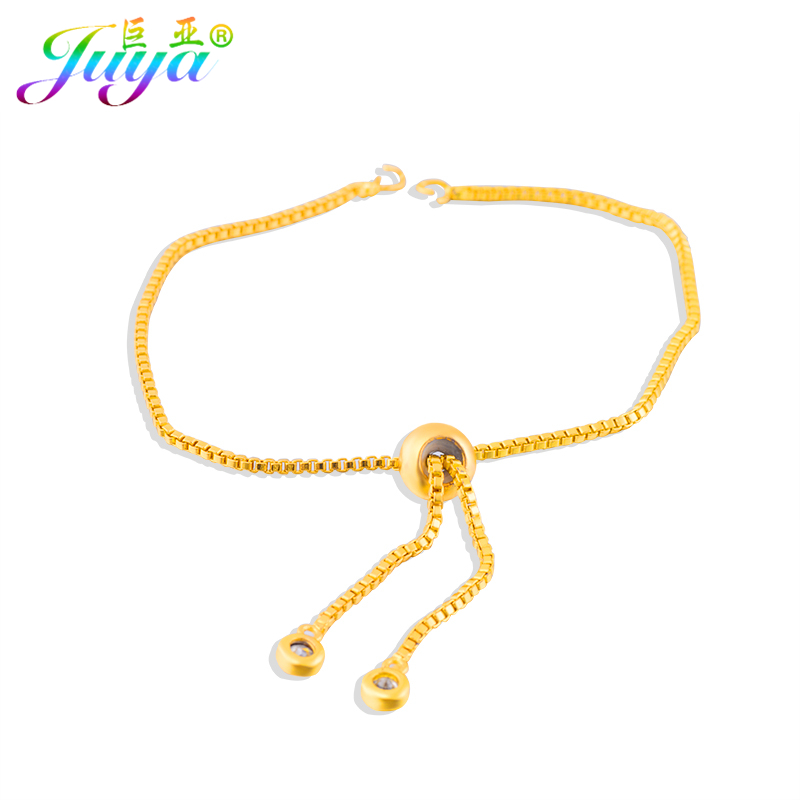 Wholesale 20pcs/lot DIY Women Men Adjustable Chains Bracelets Making Jewelry Findings Supplies Copper Box Chains Accessories