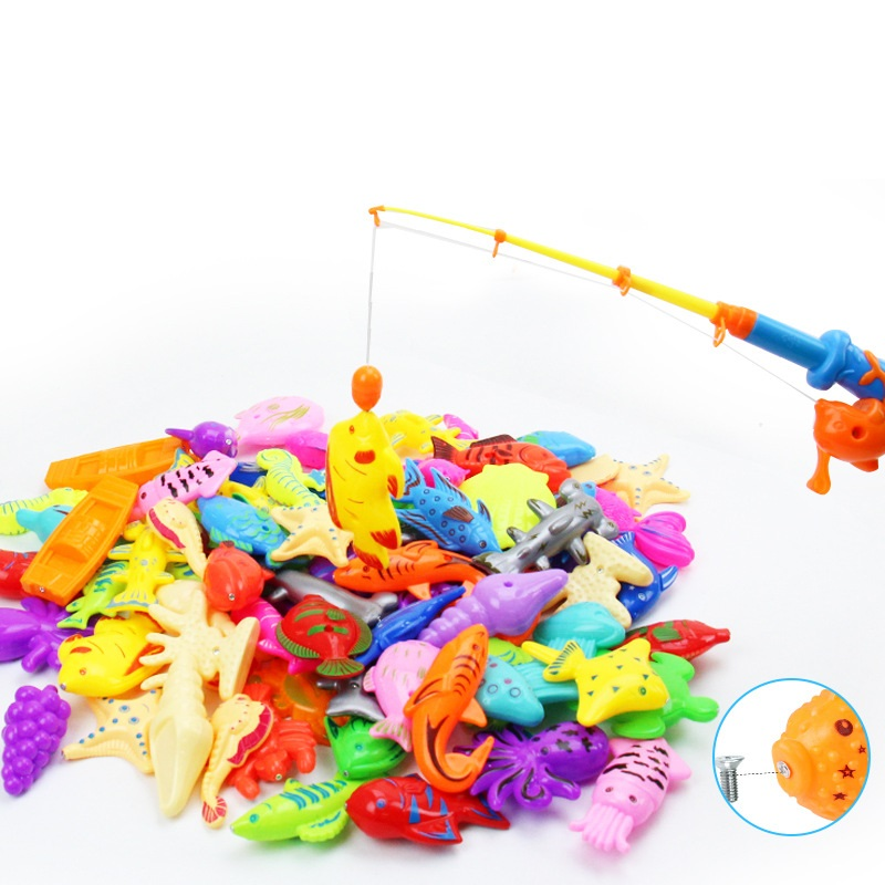 Summer Children Water Funny Fishing Toys Parenting Game Magnetic Fishing Set
