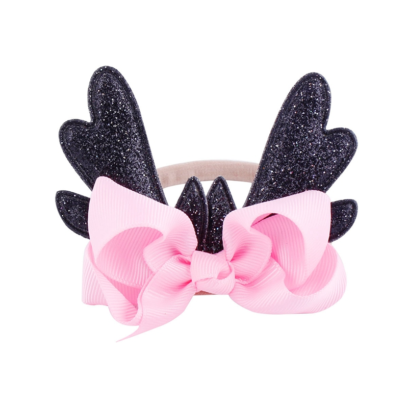 2018 New Fashion Christmas Infant Baby Antlers Deer Headband Hair band Dance Ballet 6 Colors 2017 new sweet baby girl dancing updo hair net snood children new hair decoration top sell dance ballet hair ornaments