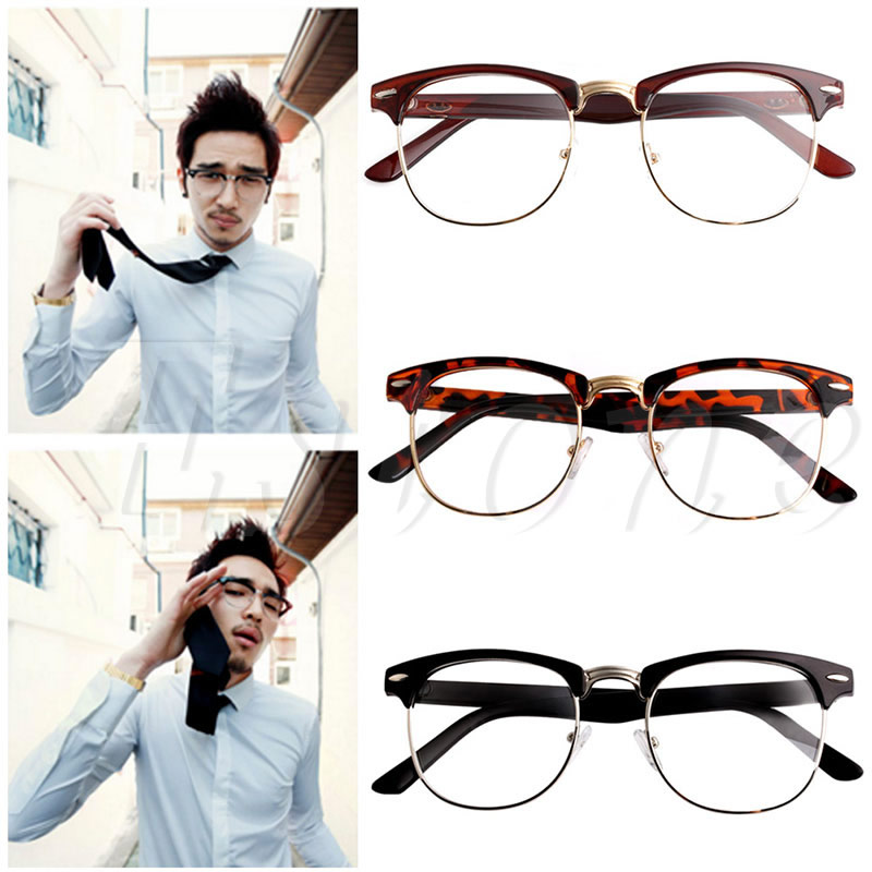 Free delivery 1 PC Fashion New Eyeglasses Clear Frame Glasses Lens Eyewear Vision Care Christmas Gifts for Men Women