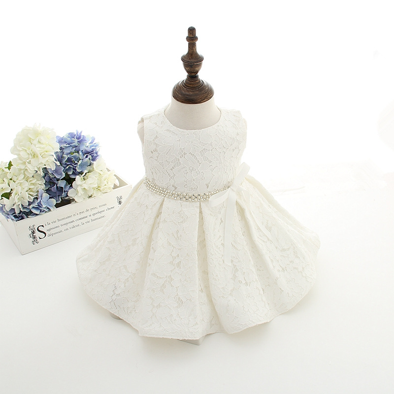 Baby Girl Christening Baptism Formal Dress Gown Party Newborn to 24 Months-White