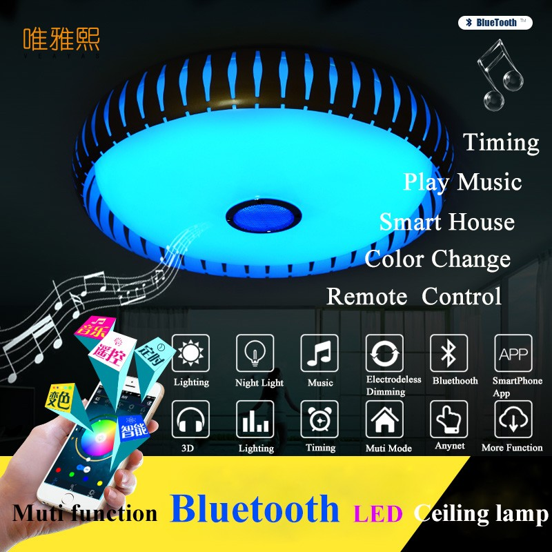 bluetooth led Ceiling Lights For Indoor Lighting  led  music  Ceiling Lamp Fixture For Living Room Bedroom Lam