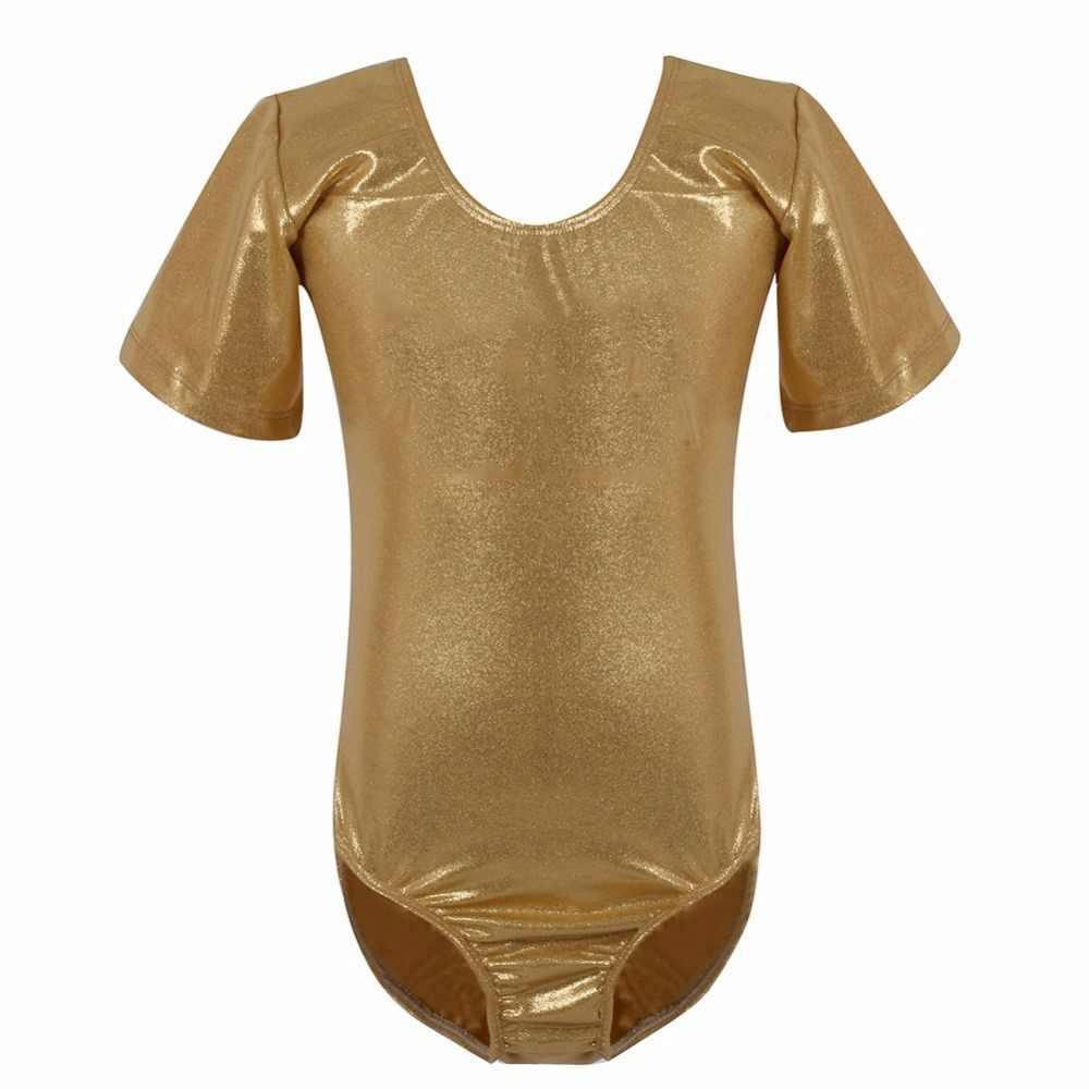 Kızlar Bayanlar Düz Kolsuz Dans Leotard Parlak Likra Modern Disko Kostüm Kız dans elbiseleri Yeni Bale Elbiseler