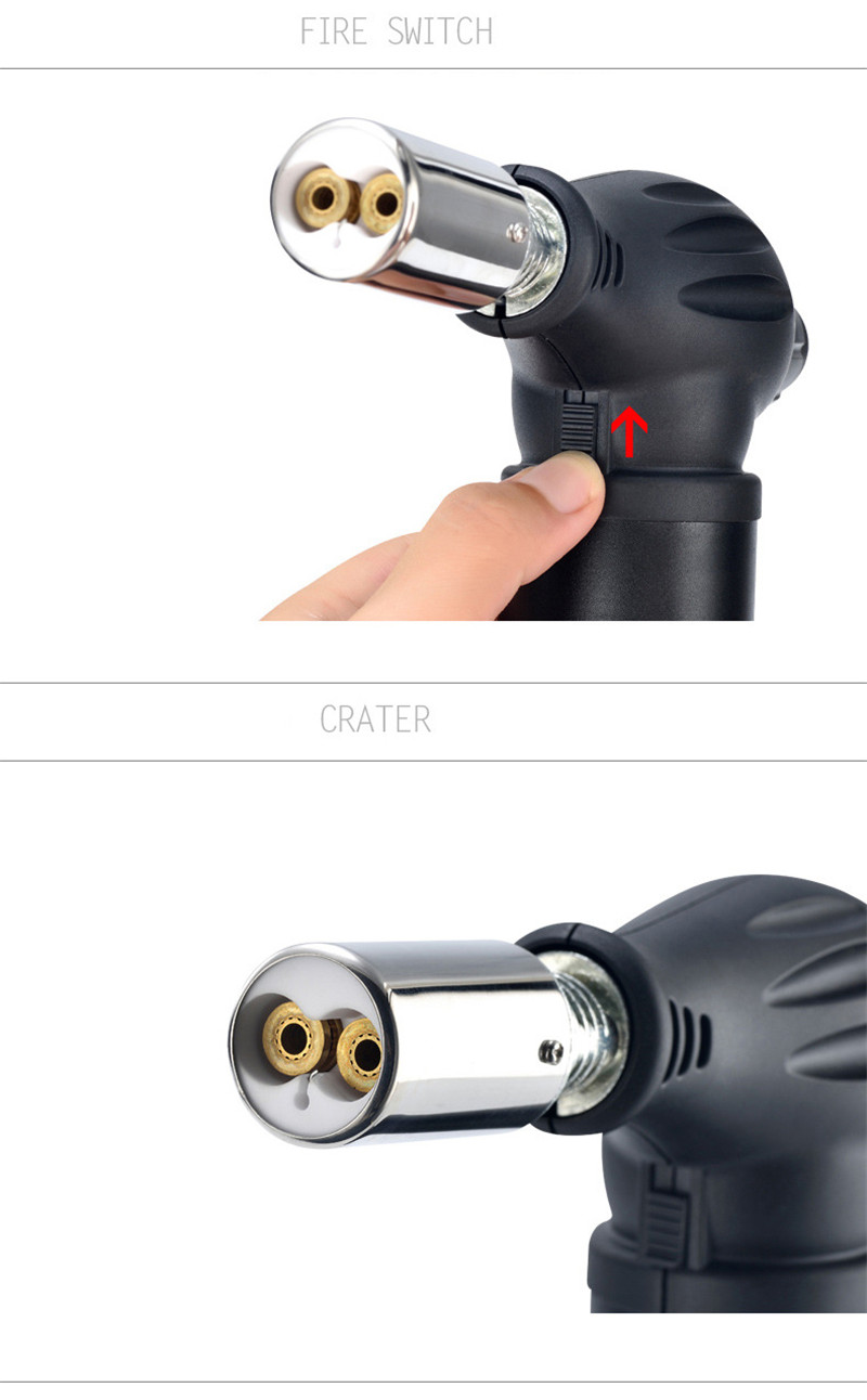 Refillable Gas Butane Blow Torch Kitchen Lighter Solder Cooking Tool Gadgets Gas Fire Cigarettes Tobacco Spar Stove BBQ Lithter