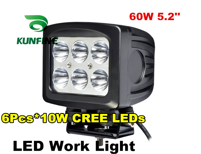 5.2 60W LED Light Spot Flood Lamp Motorcycle Tractor Truck Trailer SUV  Off-roads Boat 10-30V 4WD KF-2260 spot flood combo 72w led working lights 12v 72w light bar ip67 for tractor truck trailer off roads 4x4 led work light