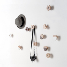 Solid wood decorative hook  creative minimalist wall hangers   wooden children's rooms lovely clothes and hooks  Nordic wall dec