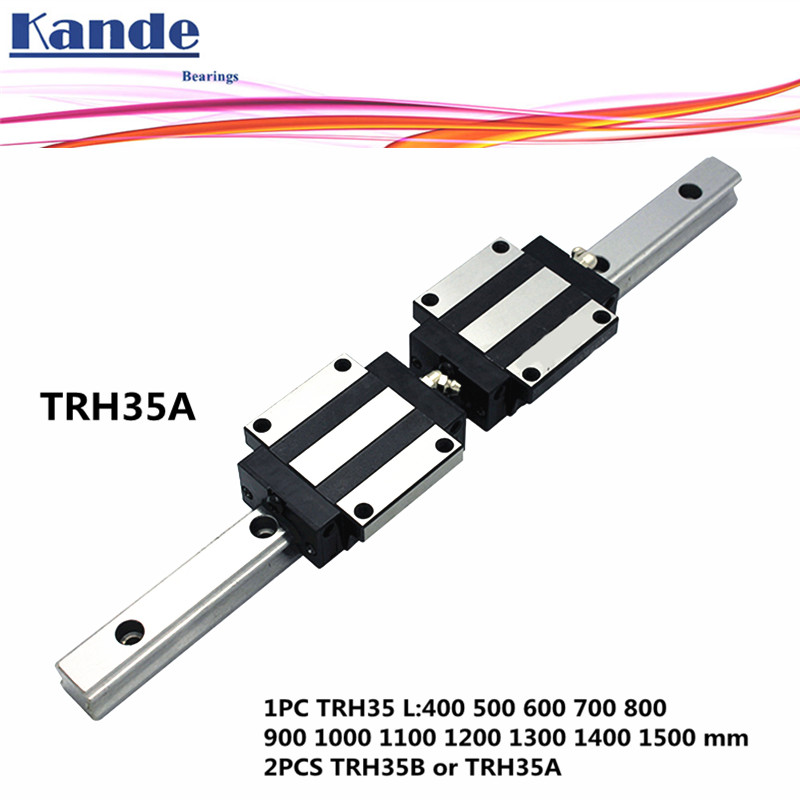 Precision rail 1PC TRH35 Linear guide + 2PCS TRH35B Block or TRH35A Flange Block L 400 1500 mm for CNC-in Linear Guides from Home Improvement    1